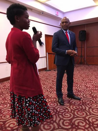 Byenda Nkwanda with Tony Elumelu