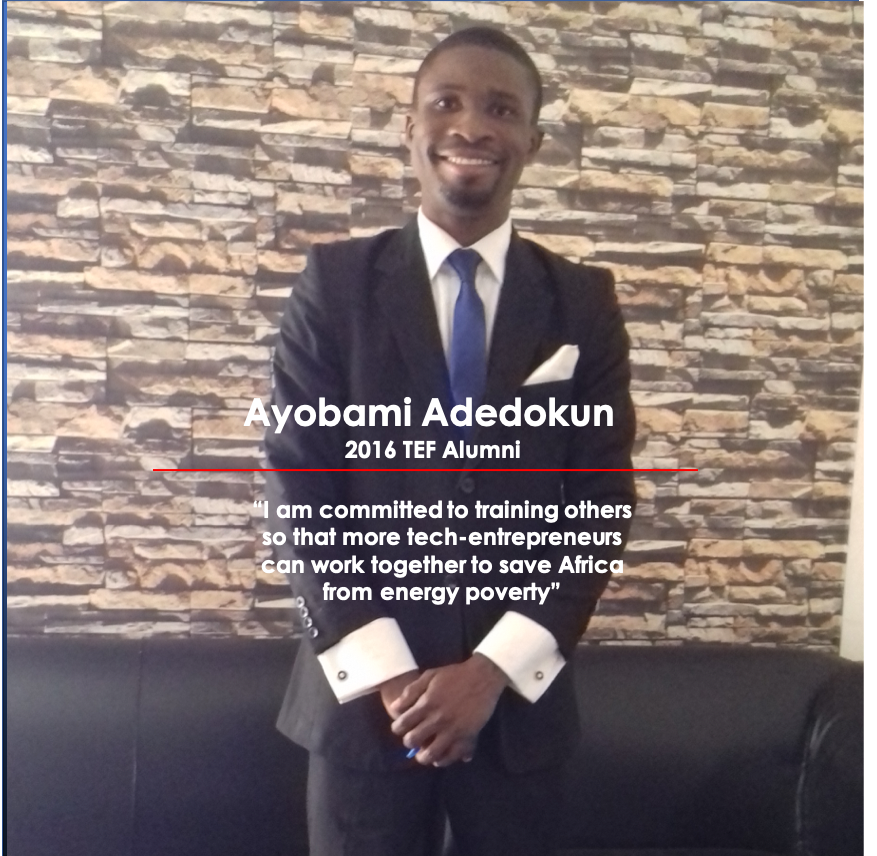 Meet Ayobami Adedokun, the Tony Elumelu Entrepreneur Solving Energy Poverty Through Solar Inverters