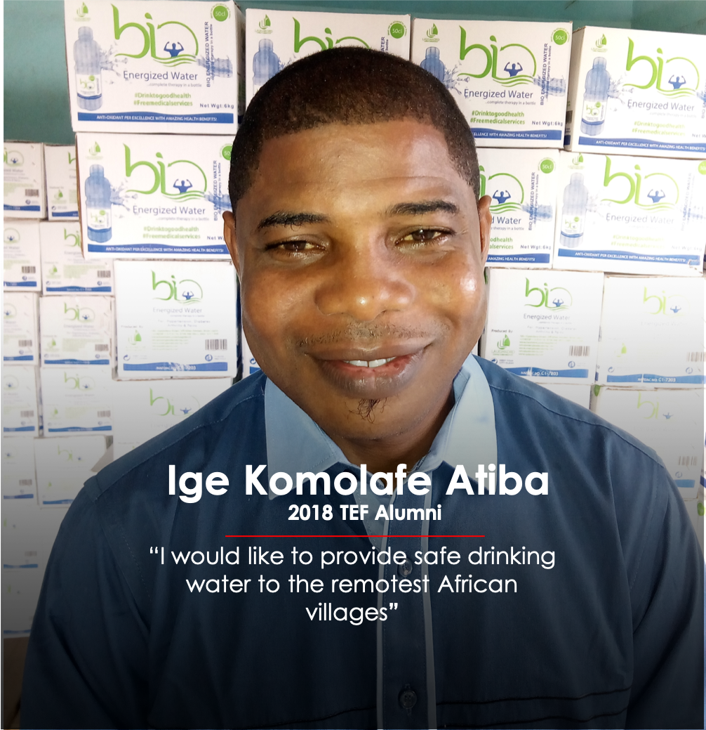 "Ige Komolafe Atiba – ""I would like to provide safe drinking water to the remotest African villages"""