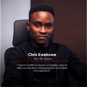 Chris-Kwekowe, Tony Elumelu Entrepreneur