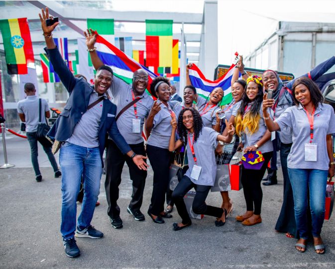 A group of Tony Elumelu entrepreneurs