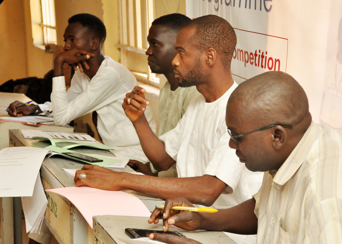 Beneficiaries pitching sessions in Gombe, Nigeria