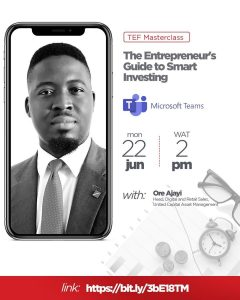 """Entrepreneurs guide to smart investing"""" with Ore Ajayi,"""