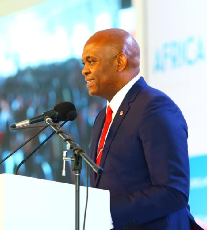 Tony O. Elumelu, CON, Chairman of United Bank for Africa, Heirs Holdings, and Founder of the Tony Elumelu Foundation, speaks to 21,000 youth at the Joshua Generation International Youth Conference at the University of Nigeria, Nsukka.