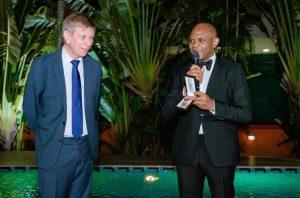 Tony Elumelu and Ambassador Daniel Bertrand