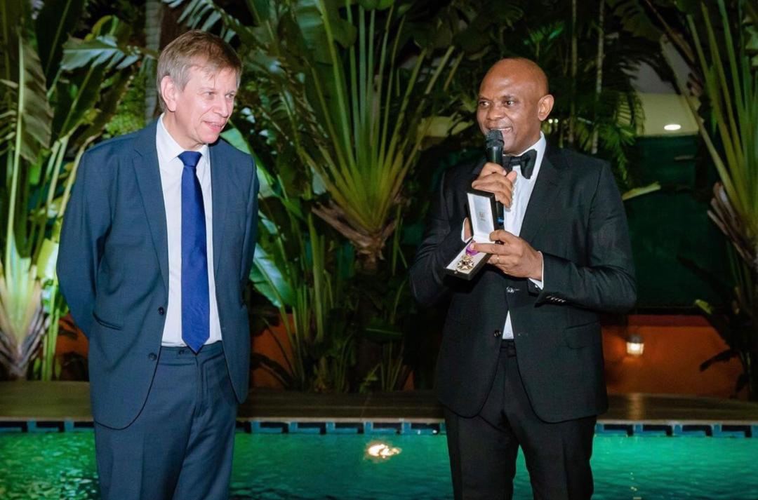 Tony Elumelu and Ambassador Daniel Bertrand