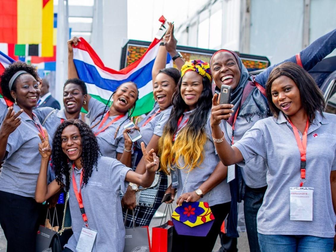 African woman entrepreneur smiling