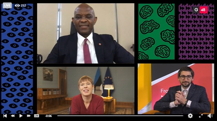 Tony Elumelu joins President of the Republic of Estonia at the 'EU Africa the Post Crisis Journey'
